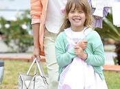 Jessica Alba, tonos pastel familia