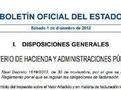 Nota cuanto nuevo Reglamento Facturación vigente desde 01/01/2013