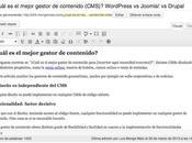 WordPress Joomla! Drupal, ¿cuál mejor gestor contenidos (CMS)?