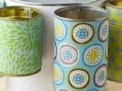 Cómo hacer organizador reciclando latas