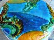 Tarta pintada dragon Dragon Ball