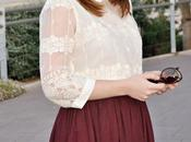Look day: Burgundy Chiffon Lace