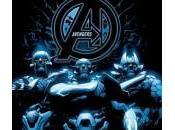 Portada Infinity para Avengers diseños Corvus Glaive