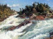 Peder Mork Mønsted, pintor danés realista conocido pinturas paisaje