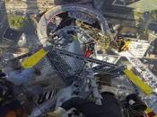 Imágenes vértigo: colocan antena edificio alto América