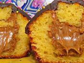 Cupcakes azahar rellenos crema avellanas decorados chocolate