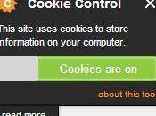 Aviso emergente para cumplir cookies sitio