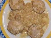 Solomillo cerdo salsa mostaza