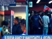 #MéxicoSOS Policías interrumpen avance manifestantes #OcupaLos Pinos.