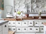Una cocina con una mezcla de revestimientos paperblog - Cocinas estilo shabby chic ...