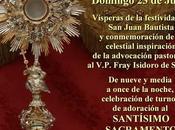 Hoy, Vigilia Adoración Santísimo Sacramento