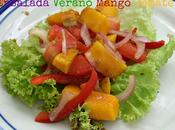 Ensalada verano: mango, tomate balsámico tamarindo!