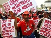 Obama bien recibido Sudáfrica