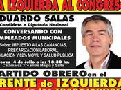 Hoy, jueves julio, Eduardo Salas conversa trabajadores municipales Local Central Córdoba.