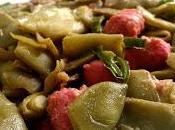 Recetas rápidas: Alubias verdes salchichas pimiento verde