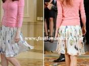 Dña. Letizia, twin falda Hugo Boss, audiencia Jóvenes Iberoamericanos