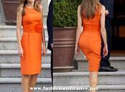 Dña. Letizia apunta colores cítricos. look Princesa visita Presidente Siria esposa