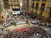 Protesta antitaurina plaza Ayuntamiento Pamplona