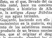 Aquae Bilbilitanae Antecedentes históricos romanos Balneario Termas Pallarés