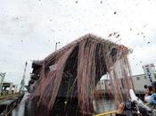 Japón: ceremonia hiroshima presentación buque guerra
