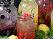 Aguas refrescantes saborizadas.