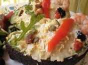 Aguacates axarquia malagueña rellenos ensaladilla atun langostinos frutos secos