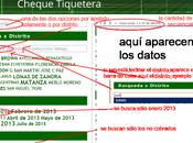 Dgcye: listado agentes cheque tiketera desde enero 2013 (que cobran-cobraron-no cobrados)
