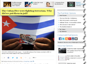 """""""Los Cinco Cubanos estaban combatiendo terrorismo. ¿Por encarcelamos?"""" publicó Washington Post"""