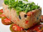 Pastel pollo verduras parmesano
