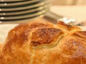 receta: hojaldre relleno carne, foie membrillo Recipe: puff pastry stuffed with meat, quince paste