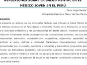 Reflexiones sobre salud mental médico joven Perú Favio Vega Galdós