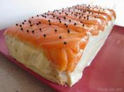 Pastel salado salmón surja