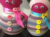 Muñecos nieve (reciclando calcetines)