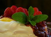 Pavlova lemon curd frutos rojos