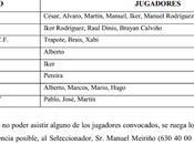 Convocatoria selección alevín Ourense Noviembre 2013)