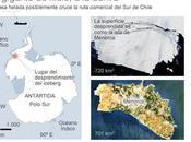 iceberg gigante como isla menorca desprende Antártida deriva