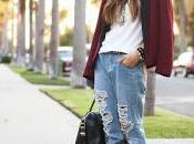 Street style:Ripped jeans