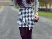 houndstooth bottomSkirt: Frontrowshop shirt: Zara, Bag: P...