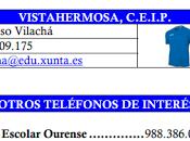 Directorio fútbol sala base Ourense horarios semana
