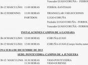 Campeonato gallego selecciones comarcales sub-14: Horarios Diciembre