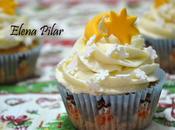 Cupcakes Naranja Vainilla, nevados fuera... dentro (Recetas navideñas,