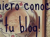 ¡Quiero conocer blog! Book letter word.