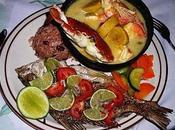 Comida garífuna Puerto Livingston. Guatemala
