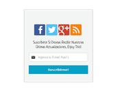 Gadget suscripción botones sociales para Blogger
