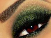 Maquillaje ojos para navidad