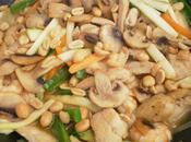 pollo, langostinos verduras agridulces cacahuete