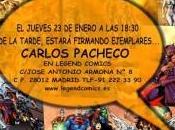 Firma ejemplares Carlos Pacheco Legend Comics, Madrid