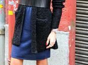 vestido azul negro botines