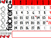 Calendario febrero 2014 {listo para imprimir}