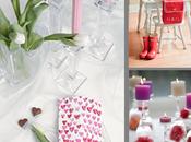 Tres decoraciones mesa para valentin
